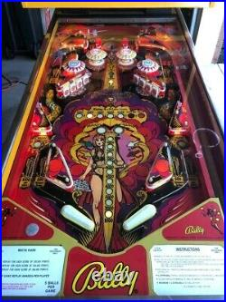 Nice Bally Mata Hari Pinball Machine
