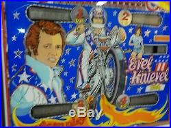 Original 1977 Bally's Evel Knievel S. S. Pinball Machine Original Graphics