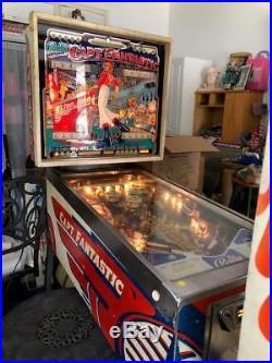 Original Captain Fantastic Pinball Machine Version witho Stars c1970s Works