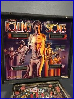 Original Rolling Stones Pinball Machine Vintage