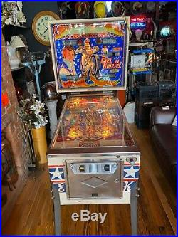 Pinball machine Vintage Evil Knievel Daredevil Motorcycle Rare Coin Op