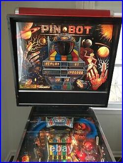Pinbot Pin Bot Pinball Machine Williams Coin Op 1986