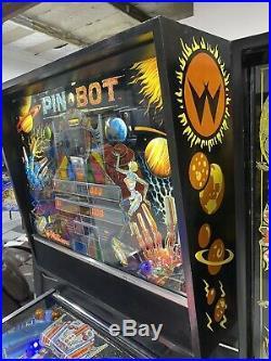 Pinbot Pin Bot Pinball Machine Williams Coin Op 1986 LEDs Free Ship