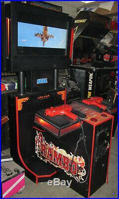 RAMBO ARCADE MACHINE by SEGA (Excellent Condition)