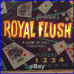 ROYAL FLUSH GOTTLIEB PINBALL MACHINE 1976 Classic 4-Player Electro Magnetic