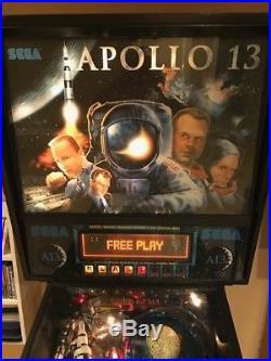 SEGA Apollo 13 pinball machine, great condition with 13-ball multiball mode