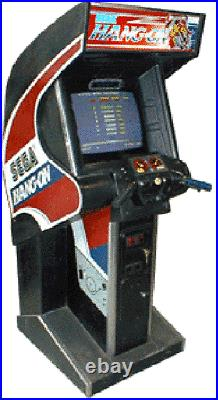 SEGA HANG ON ARCADE MACHINE (Excellent Condition) RARE with LCD MONITOR UPGRADE