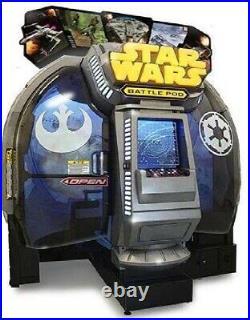 STAR WARS BATTLE POD ARCADE MACHINE by NAMCO 2015 (Excellent Condition)