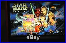 STAR WARS EPISODE I Pinball Machine Williams 1999 Pinball 2000! -PERFECT