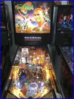 Sega Space Jam Pinball Machine Michael Jordan Leds Plays Great