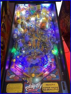 Simpsons Pinball Party Pinball Machine Stern LEDs Free Shipping