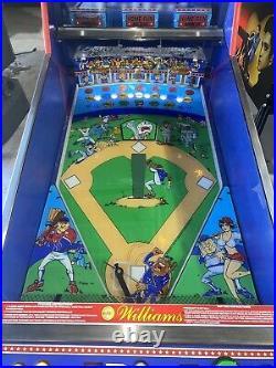 Slugfest Baseball Pitch and Bat Pinball Machine Williams 1991 LEDs Free Ship
