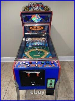 Slugfest Pinball Machine Williams Pitch and Bat Coin Operated