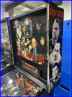 Sopranos Pinball Machine Stern LEDS 2007 HBO Mafia Free Shipping
