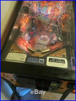 Space Jam Sega Pinball Machine Pristine Original Not Refurbished Condition