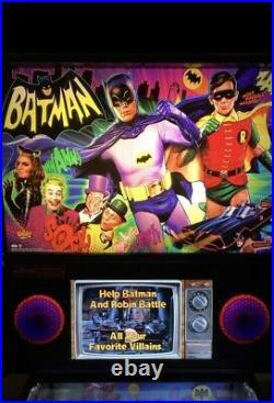 Stern Batman 66 Premium Pinball Machine Beautiful Condition
