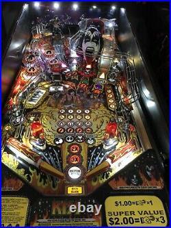Stern Kiss Pro Pinball Machine 2015 Leds Plays Awesome