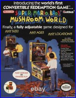 Super Mario Bros. Mushroom World Pinball By Gottlieb Super Rare Nintendo! Wow