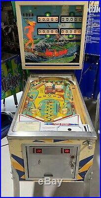 Surf Champ Pinball Machine Coin Op Gottlieb 1976 Free Shipping 4 Player