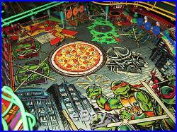 TEENAGE MUTANT NINJA TURTLES Arcade Pinball Machine DataEast 1991 (Excellent)