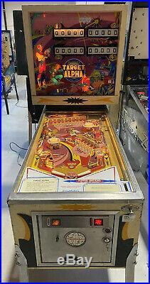 Target Alpha Pinball Machine Coin Op Gottlieb 1976 Free Shipping