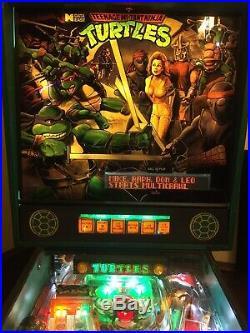 Teenage Mutant Ninja Turtles Pinball Data East WILL SHIP