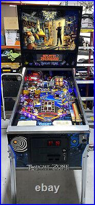 Twilight Zone Pinball Machine Bally LEDs Coin Op Fully Serviced Free Shipping