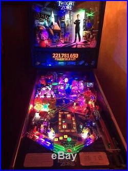 Twilight Zone Pinball Machine Custom LED's Mini TV plays TZ Episodes withAudio