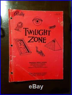 Twilight Zone Pinball Machine Original Bally in Superb Condition MUST SEE