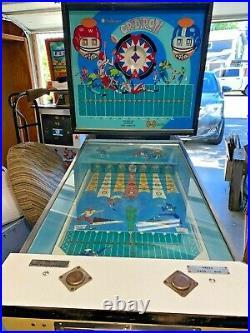 Vintage 1969 Williams Pinball Machine Gridiron Pitch & Bat Arcade Game