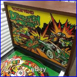 Vintage 1970's Wonder Wizard Demolition Derby Pinball Machine Chicago Pickup
