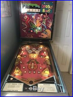 Vintage 1971 Williams Doodle Bug Pinball Machine in Good Working Condition
