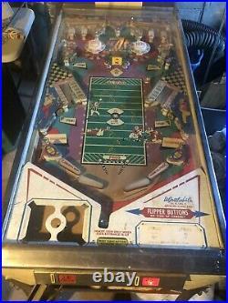 Vintage 1973 Dr Gottlieb NFL PRO FOOTBALL Pinball Machine Coin Ops Needs Work