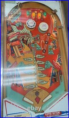 Vintage 1973 Gottlieb & Co. Big Brave Pinball Machine