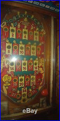 Vintage 1976 Ballys Miss America Bingo Pinball Machine