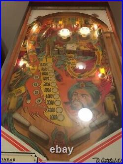 Vintage 1978 Gottlieb Sinbad Pinball Machine Lights Working Rare Collectible