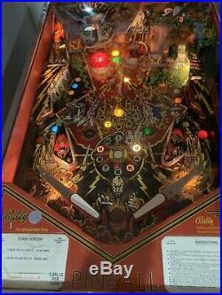 Vintage Bally 1980 Flash Gordon 1-4 Play Pinball Machine