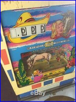 Vintage Gollieb Buckaroo Pinball Machine