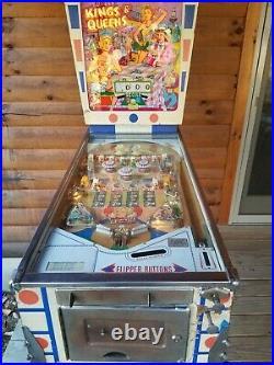 Vintage Gottlieb Kings And Queens Pinball Machine 1965