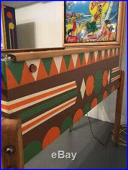 Vintage Hawaiian Beauty Wood Rail Pinball Machine 1954 Rare