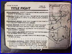 Vintage Title Fight Pinball Machine 1990 by Gottlieb Excellent Condition