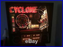 WILLIAMS CYCLONE PINBALL MACHINE LEDs