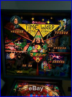WILLIAMS TIME WARP Pinball Machine HUGE 1 DAY SALE $770 ONLY
