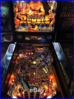 WWF Royal Rumble Pinball Machine LEDS $399 1994