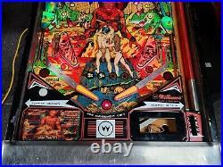 Williams 1979 Gorgar Pinball Machine Leds Nice First Talking Pin