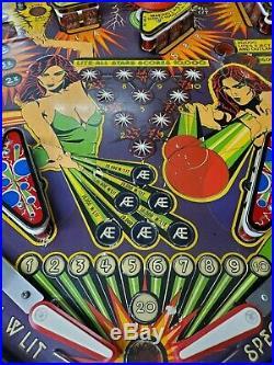 Williams 1979 Widebody Laser Ball Pinball Machine Reconditioned Works