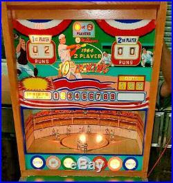 Williams Baseball Pinball Machine 10th Inning Pitch N Bat Free Shipping