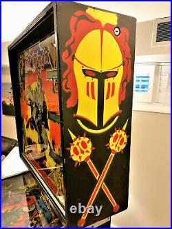 Williams Black Knight Pinball Machine Full Restoration NEW Playfield Backglass