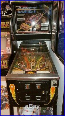 Williams Comet Pinball Machine 1985 RARE Rollercoaster Carnival Theme Park WOW
