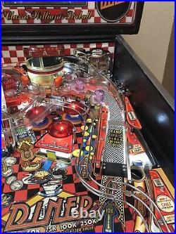 Williams Diner Pinball Machine Working 100% Leds Nvram California